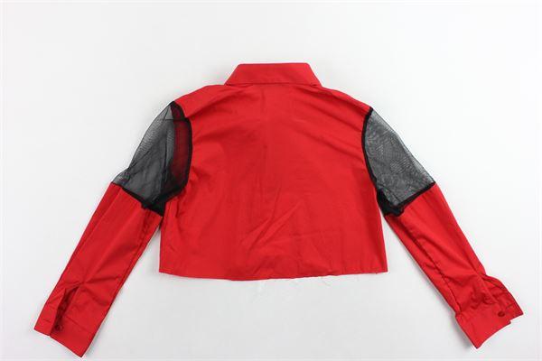 camicia corta tinta unita profili in velo in contrasto GAELLE | Camicie | 2746C0085ROSSO