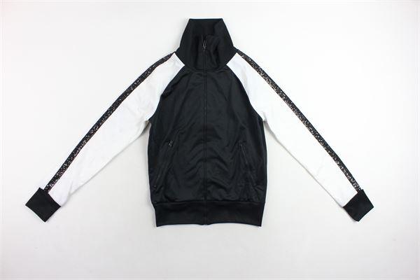 felpa triacetata con zip bicolore con paillettes GAELLE | Felpe | FELPEGAELLE1NERO