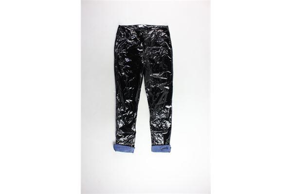 pantalone in vernice profili in denim GAELLE | Pantaloni | GBD2855NERO