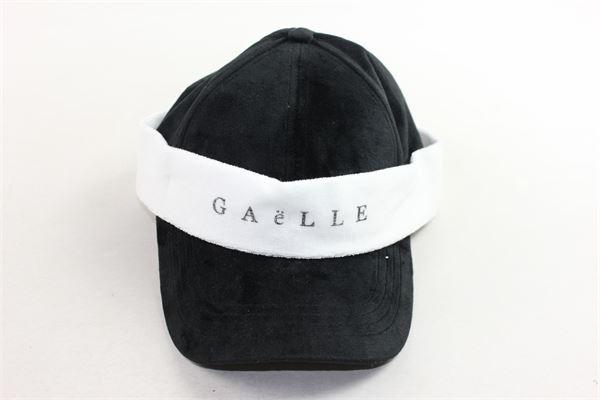 berretto con visiera tinta unita con stampa in ciniglia GAELLE | Cappelli | GBDA422NERO