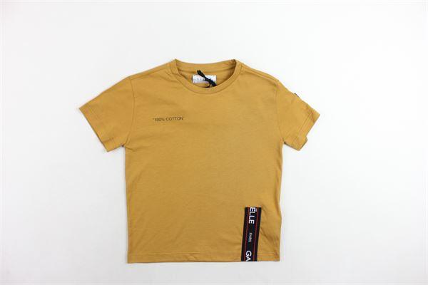 t-shirt mezza manica tinta unita con stampa e profili loggati GAELLE | T-shirts | GBTS20SENAPE