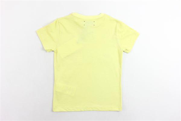 t-shirt mezza manica tinta unita con stampa e applicazioni GAELLE | T-shirts | GGTS69JE151GIALLO