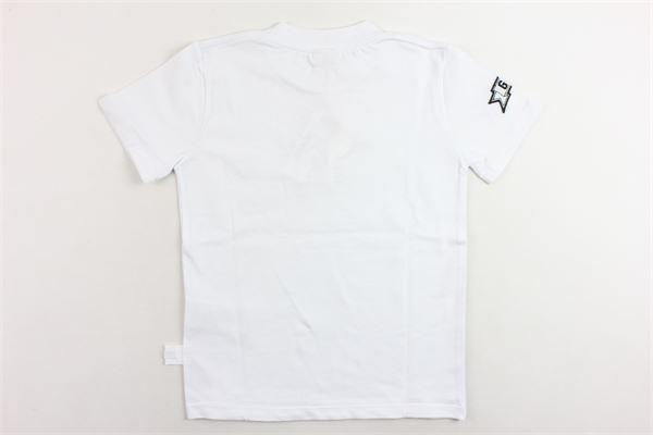 t-shirt mezza manica tinta unita con stampa GCDS | T-shirts | 019506BIANCO