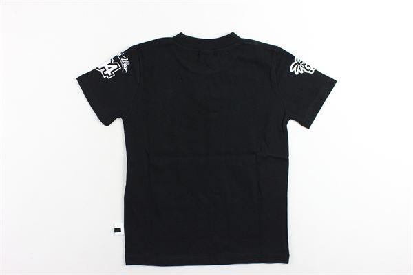 t-shirt mezza manica tinta unita con stampa GCDS | T-shirts | 019513NERO