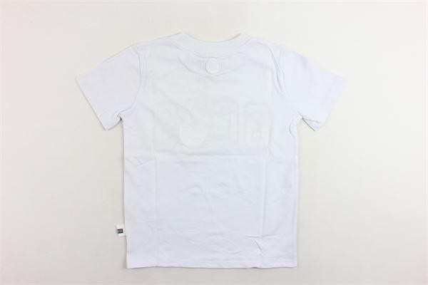 t-shirt mezza manica tinta unita stampa gcds GCDS | T-shirts | 0204133BIANCO
