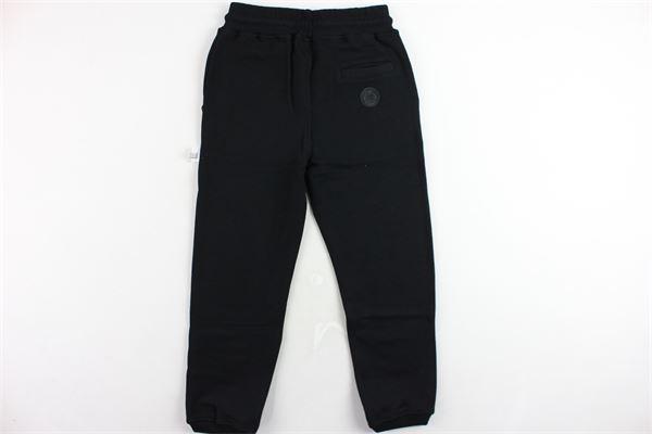 pantalone tuta felpato tinta unita con stampa GCDS | Pantaloni | 020417NERO