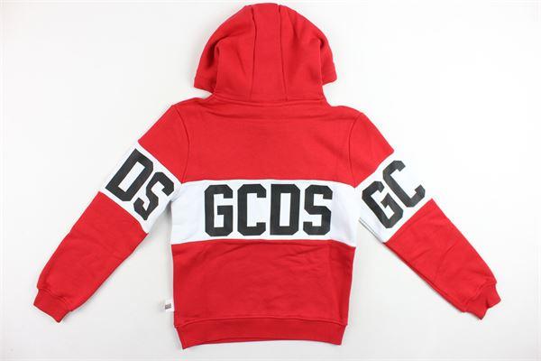 felpa con cappuccio manica lunga stampa gcds, felpata GCDS | Felpe | 0204188ROSSO