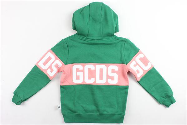 felpa con cappuccio manica lunga stampa gcds, felpata GCDS | Felpe | 020418VERDE