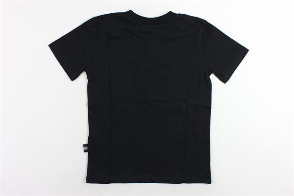 t-shirt mezza manica in cotone tinta unita con stampa GCDS | T-shirts | 020438NERO