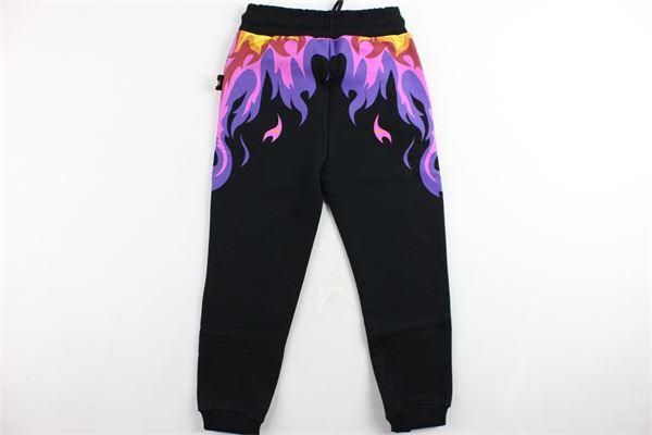 pantalone tuta felpato stampa gcds GCDS | Pantaloni | 020455NERO