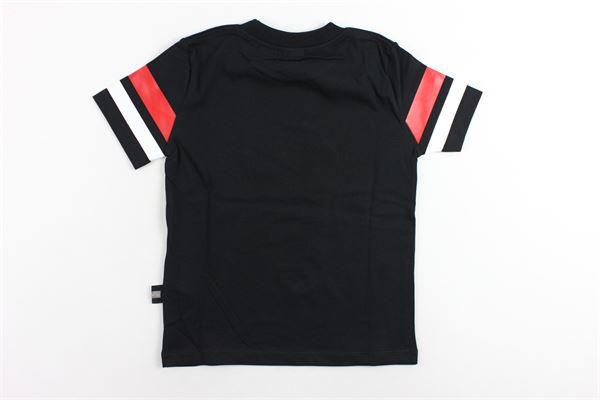 t-shirt mezza manica in cotone tinta unita con stampa GCDS | T-shirts | 020472NERO