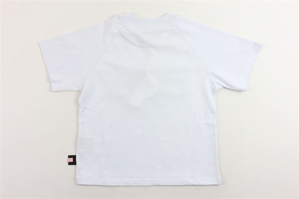 t-shirt mezza manica tinta unita stampa gcds in pelliccia sintetica modello oversize GCDS | T-shirts | 020513BIANCO