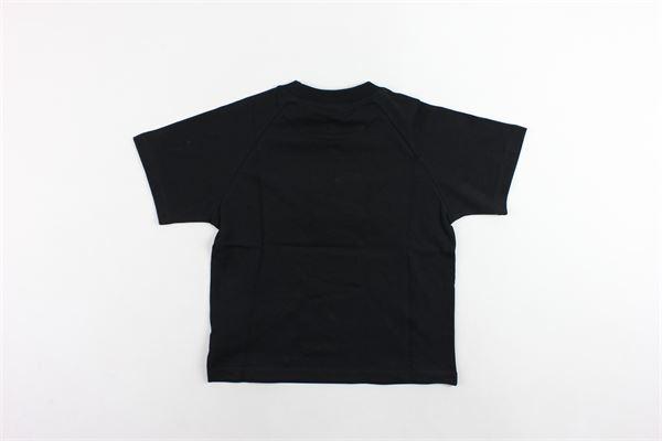 t-shirt mezza manica tinta unita stampa gcds in pelliccia sintetica modello oversize GCDS | T-shirts | 020513NERO