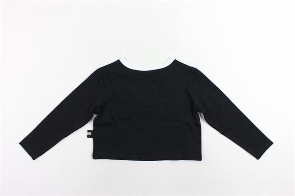 shirt corta manica lunga tinta unita con stampa GCDS | Shirts | 020523NERO