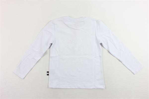 shirt manica lunga tinta unita con stampa GCDS | Shirts | 020536BIANCO