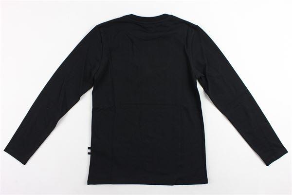 shirt manica lunga tinta unita con stampa GCDS | Shirts | 020536NERO