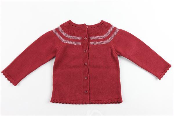maglia cotone caldo manica lunga tinta unita con bottoni dietro GRANLEI | Maglie | 2-1018ROSSO