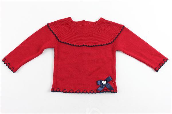 maglia cotone caldo manica lunga tinta unita con bottoni dietro GRANLEI | Maglie | 2-1070ROSSO