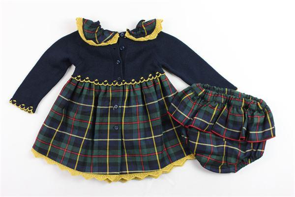 abito manica lunga fantasia scozzese più coulotte GRANLEI | Abiti | 2-1073BLU