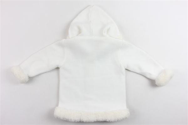 cappotto con cappuccio tinta unita in lana e interni in pelliccia sintetica GRANLEI | Giubbini | 2-1141BIANCO