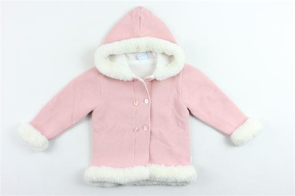 cappotto con cappuccio tinta unita in lana e interni in pelliccia sintetica GRANLEI | Giubbini | 2-1141ROSA