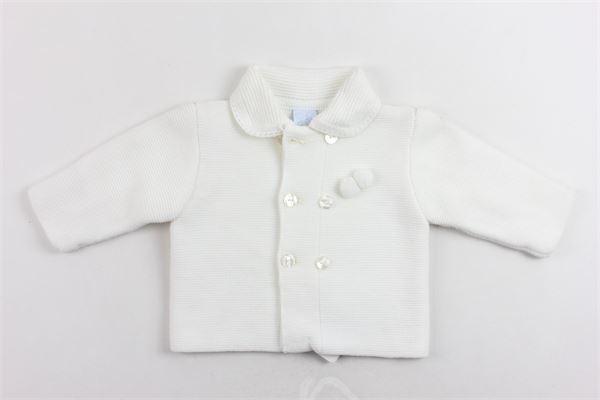cardigan in lana manica lunga tinta unita GRANLEI | Maglie | 2-1375BIANCO