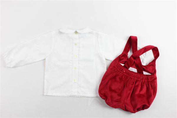 completo camicia tinta unita più pagliacetto in velluto GRANLEI | Completi | 2-1494ROSSO