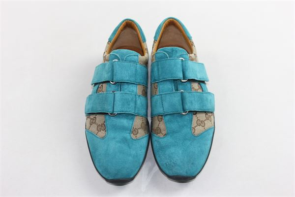 scarpe in camoscio con strappi bicolore profili gucci GUCCI | Scarpe | 100.91835OTTANIO