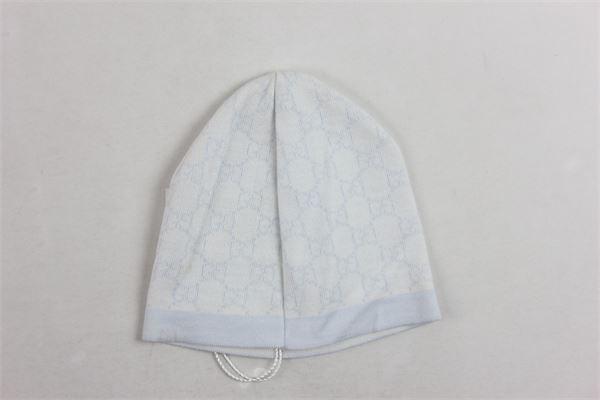 cappello 100%lana microfantasia GUCCI | Cappelli | 4185993K2069269AZZURRO