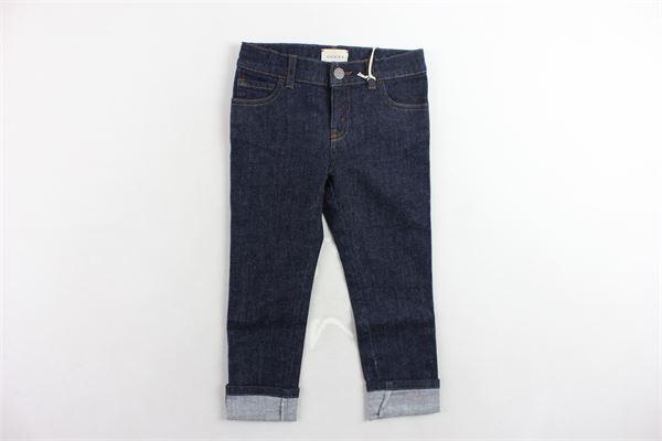 jeans tinta unita 5 tasche GUCCI | Jeans | BMC431161BLU