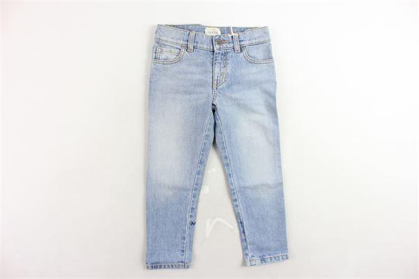 jeans tinta unita 5 tasche con stampa GUCCI | Jeans | BMC499885AZZURRO
