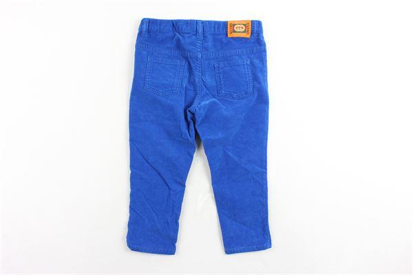 pantalone 5 tasche tinta unita in velluto GUCCI | Pantaloni | BMC566100COBALTO