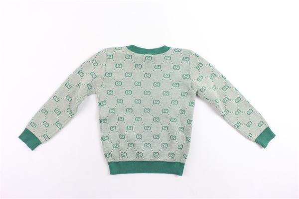 maglione in lana microfantasia gucci GUCCI | Maglie | BMJ574598VERDE