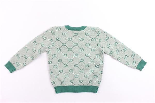 cardigan in lana microfantasia gucci GUCCI | Maglie | BMJ574619VERDE