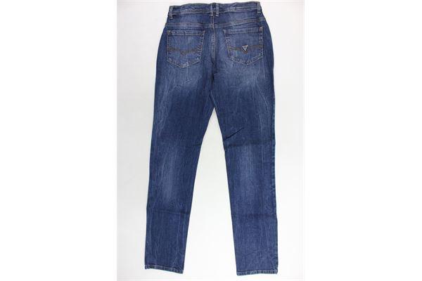 jeans 5 tasche tinta unita con strappi GUESS | Jeans | L84A12D3D80-ROPABLU