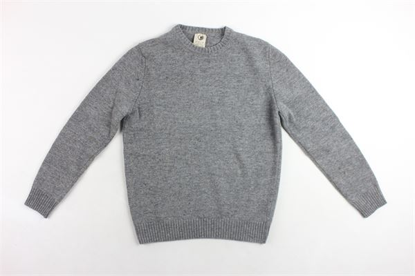 maglione girocollo in lana tinta unita con microfantasia H953 | Maglie | HS2307GRIGIO