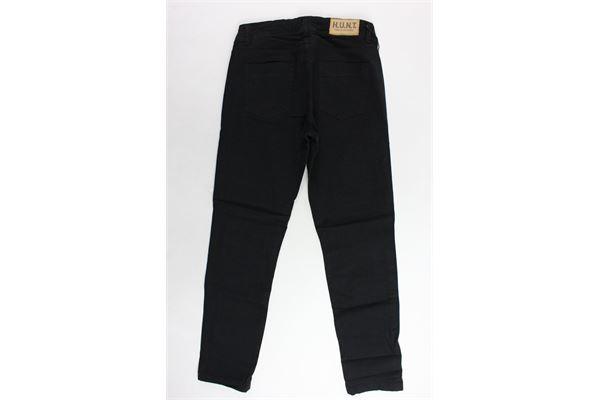 jeans 5 tasche tinta unita con strappi H.U.N.T. | Jeans | 27963NERO