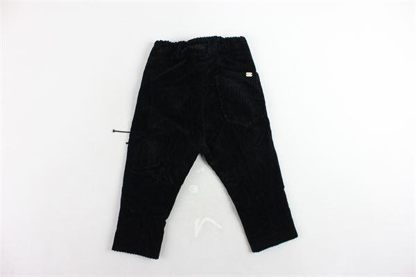 pantalone tinta unita in velluto a costine tasca america I'M BRIAN   Pantaloni   PA1086JNERO