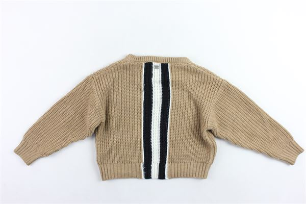 maglione girocolloin lana rigato I'M BRIAN   Maglie   MA1017JBEIGE SCURO