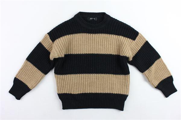 maglione girocolloin lana rigato I'M BRIAN   Maglie   MA1019JNERO
