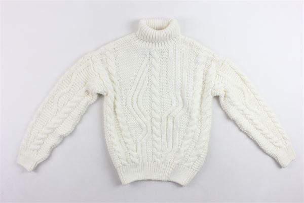 maglione collo alto in lana tinta unita I'M BRIAN   Maglie   MA1023JBIANCO