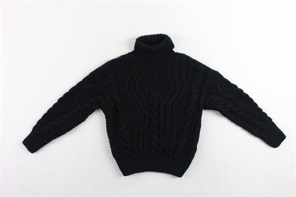 maglione collo alto in lana tinta unita I'M BRIAN   Maglie   MA1023JNERO