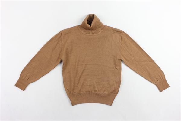 maglione collo alto in lana tinta unita I'M BRIAN   Maglie   MA1028JCAMMELLO