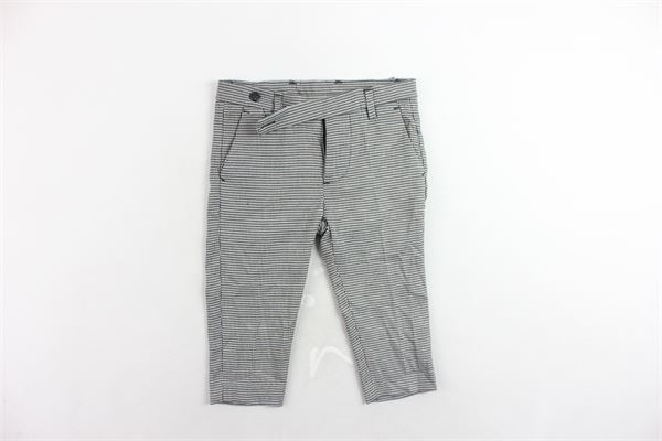 pantalone tasca america microfantasia con girovita regolabile I'M BRIAN   Pantaloni   PA1088JNERO