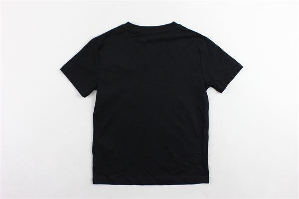 t-shirt mezza manica tinta unita con stampa I'M BRIAN   T-shirts   TS1052JNERO