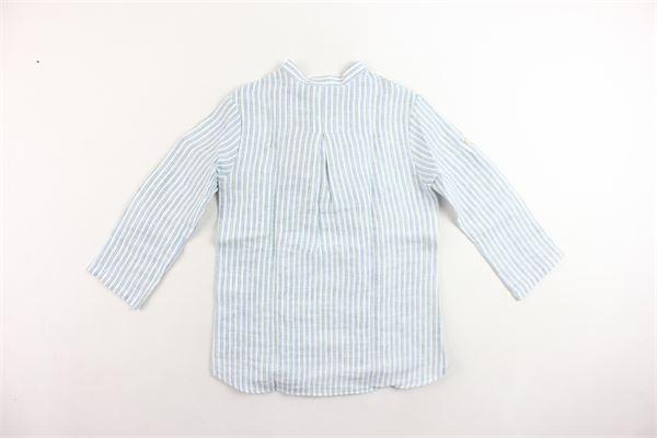 camicia in lino collo coreano a righe I PICCOLI GIOSBRUN | Camicie | CCK18S04000BIANCO