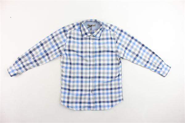 camicia manica lunga fantasia a quadri I PICCOLI GIOSBRUN | Camicie | CKP0117G.1BLU