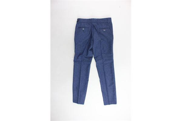 pantalone tinta unita tasca america girovita regolabile I PICCOLI GIOSBRUN | Pantaloni | PK1117-1BLU