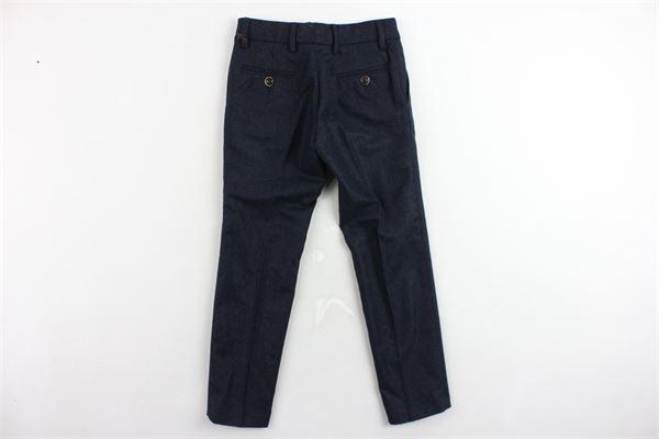 pantalone tinta unita tasca america girovita regolabile I PICCOLI GIOSBRUN | Pantaloni | PK1117P.3BLU