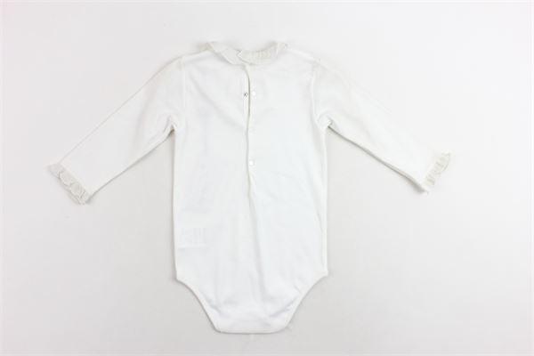 body manica lunga tinta unita in cotone collo con rouge I PINCO PALLINO | Body | 181102186003027070040BIANCO